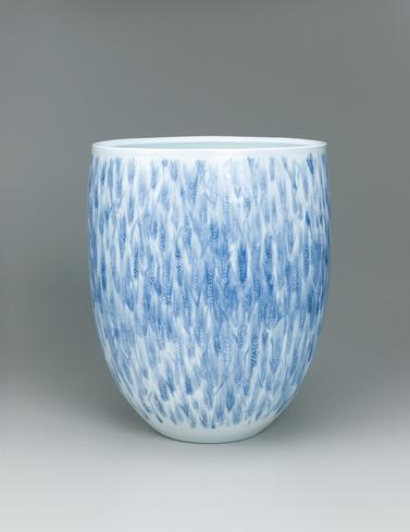 写真:線彫深鉢「麥」