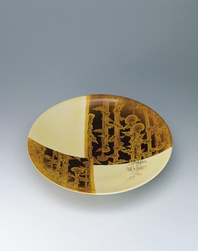 写真:黄釉皿「麗日」