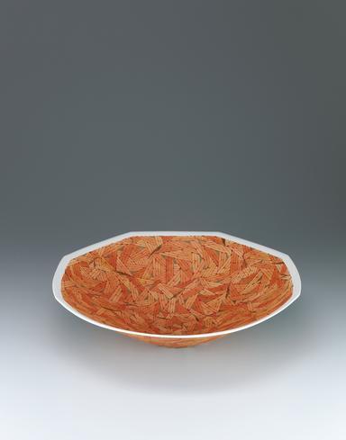 葉紋金彩鉢