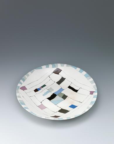 写真:塩釉練込大皿