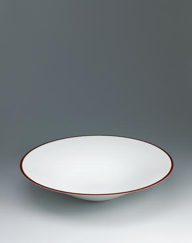 image White porcelain bowl.