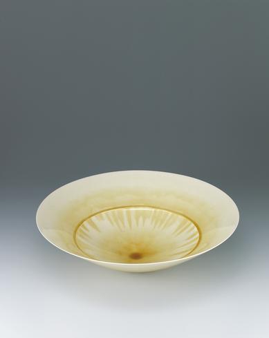 写真:泥線黄流々大鉢
