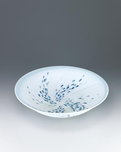写真:艶消釉しずく文鉢