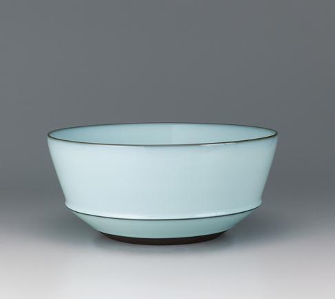 中野月白瓷深鉢
