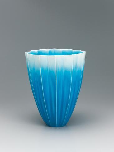 写真:青釉花器
