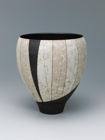 写真:白泥瓷広口壺