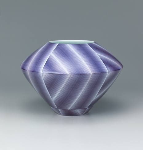 image Jar with nunozome decoration.