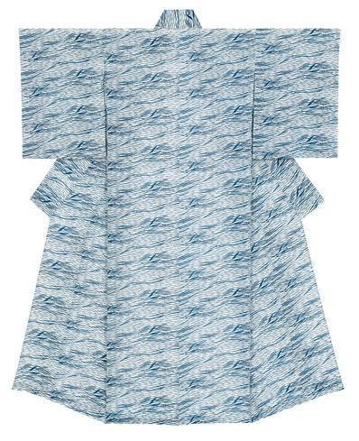 写真:長板中形着物「風の葦手」