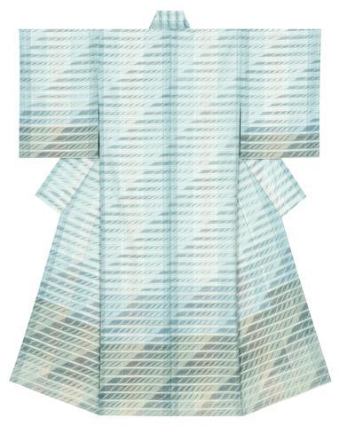 """写真:Kimono of tsumugi. """"Ebb tide"""""""