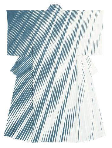 """写真:Formal kimono with design in yūzen dyeing. """"Clear stream"""""""