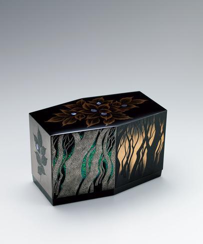 蒔絵六角箱「橅の森」