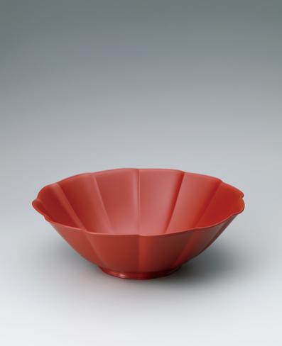 写真:皆朱乾漆盛鉢