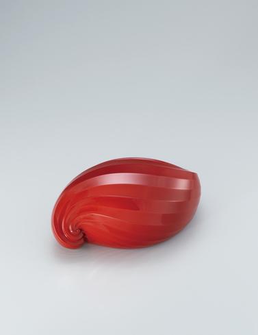 写真:乾漆朱塗合子「螺」