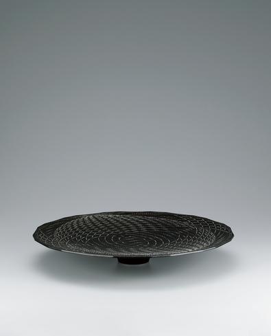 写真:魚々子象嵌皿「水紋」