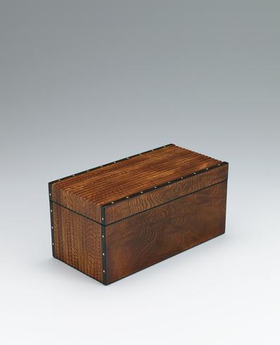 写真:欅拭漆象嵌箱