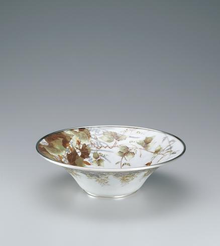 写真:有線七宝草花文飾鉢「千草風光」