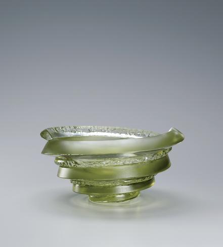 硝子鉢「二重螺旋と削りのBOWL」