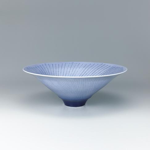紫苑釉裏銀彩鉢