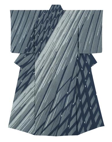 """image Formal kimono with design in yūzen dyeing. """"Splashing waterfall"""""""