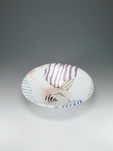 塩釉練込大鉢