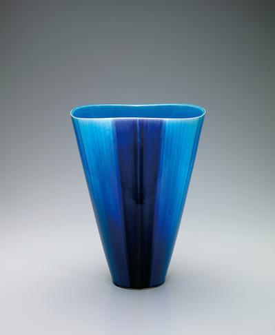 写真:彩釉花器