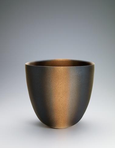 写真:釉層文扁壺