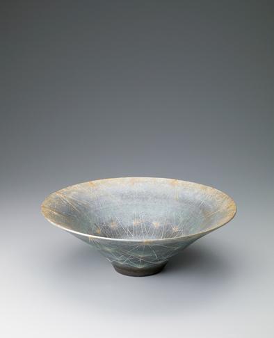写真:泥彩色絵鉢