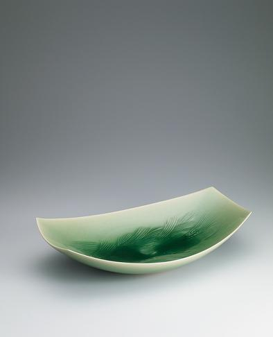 写真:青磁麦文鉢