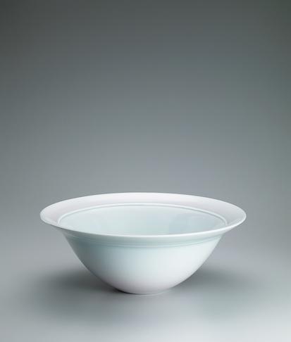 写真:青白磁紅彩流文大鉢