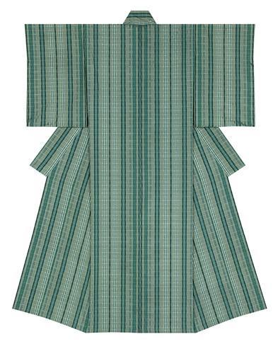 "写真:Kimono of ondule. ""Brightness of fresh verdure"""
