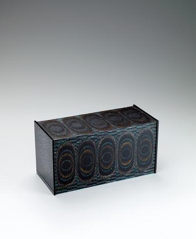 """写真:Box covered with gauze and urushi. """"Water rings"""""""