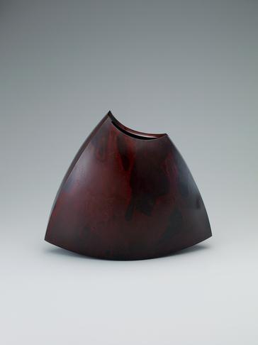 写真:鋳紫銅花器「包」
