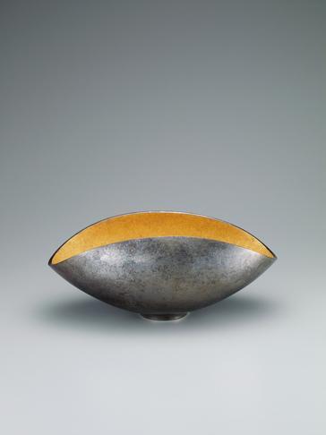 蠟型朧銀金彩扁鉢