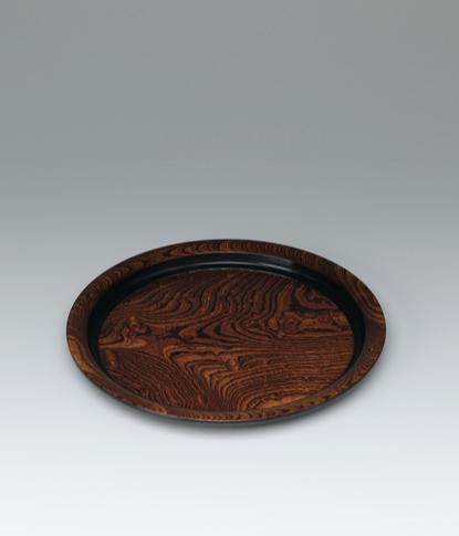 写真:欅造漆塗分螺鈿象嵌盆