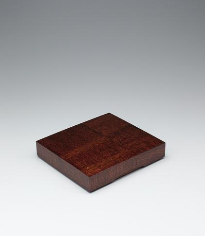 写真:ラワン造拭漆木画色紙箱