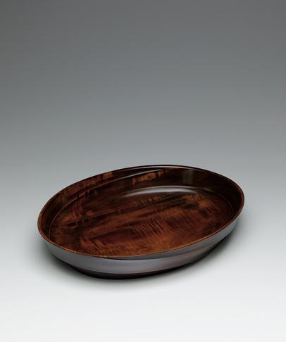 栃造拭漆盛鉢