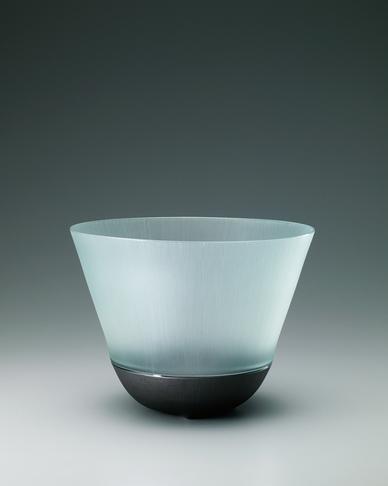 硝子絹糸紋鉢
