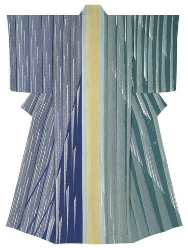 """写真:Formal kimono with design in yūzen dyeing. """"Quiet sound"""""""