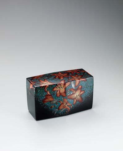 蒔絵飾箱「光輝青朱華」