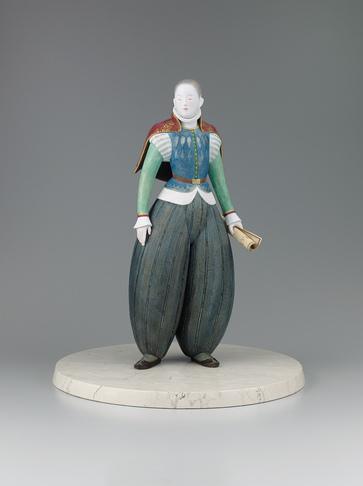 "写真:""Long way"". Ceramic sculpture with polychromy."