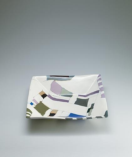 写真:塩釉練込角鉢