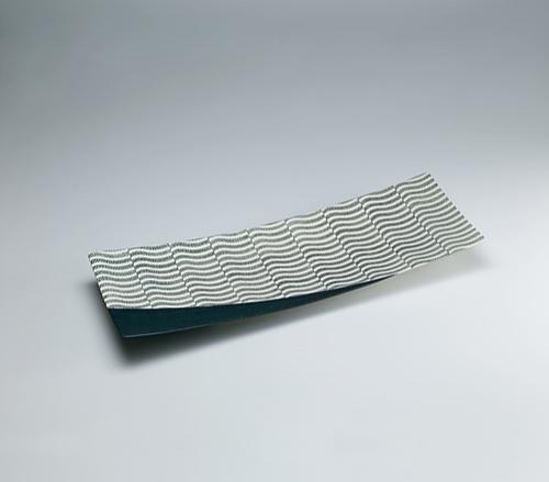 写真:塩釉甍文長方皿