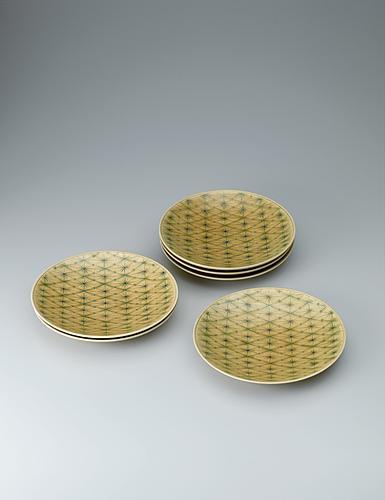 写真:黄釉組皿