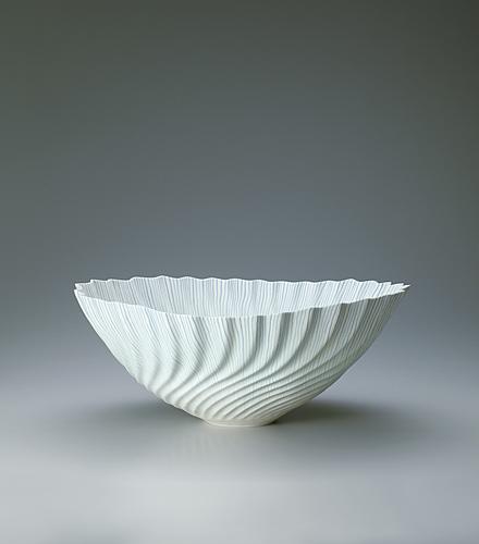 """写真:Nerikomi porcelain. """"Innocent Sapphire"""""""