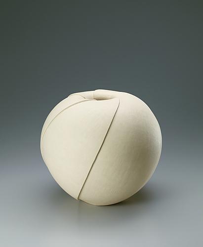 写真:黄白釉面取壺