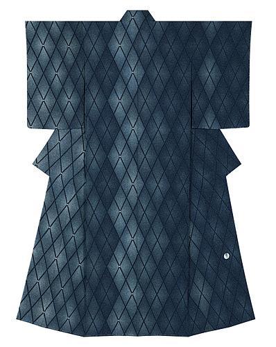 """写真:Formal kimono with design in yūzen dyeing. """"Diamond pattern"""""""