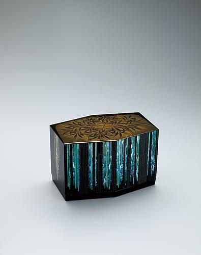 竹林蒔絵六角箱