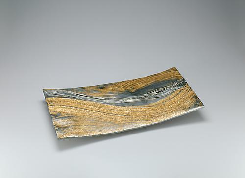 蠟型白銅金彩盛器「流」