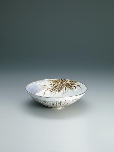 写真:有線七宝草木文飾鉢「雑木林Ⅱ」