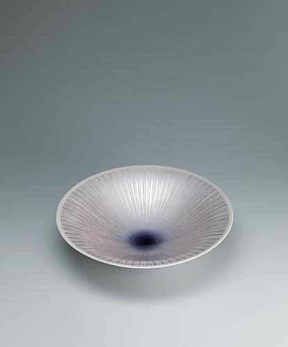 淡桜釉裏銀彩鉢